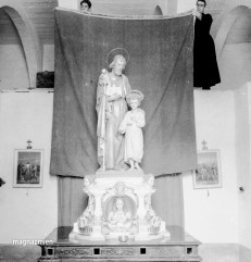 Titular Statue, Kalkara 1949. Photo: Emanuel Borg. John Borg Collection